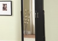 Stand Alone Mirror Jewelry Armoire