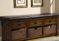 Storage Bench Seat With Baskets