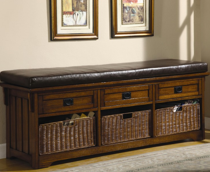 Permalink to Storage Bench Seat With Baskets
