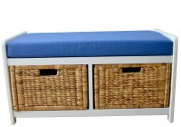 Storage Bench With Baskets And Cushion
