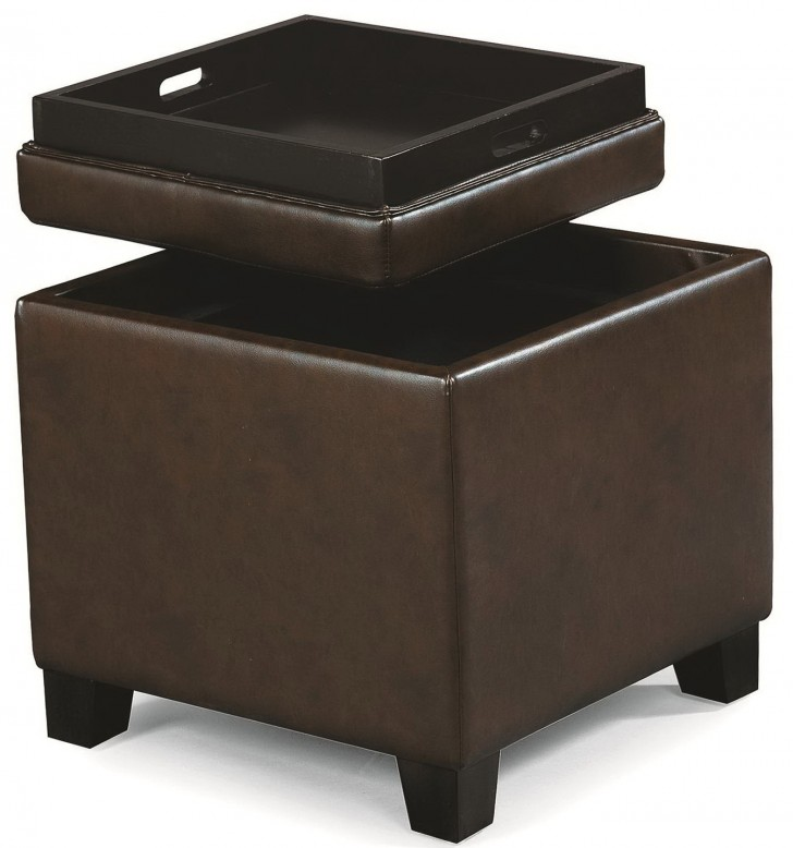 Permalink to Storage Ottoman Cube With Tray