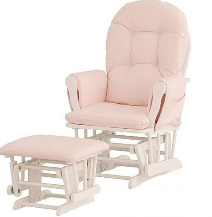 Permalink to Stork Craft Hoop Glider And Ottoman White Pink