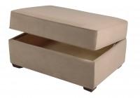 suede ottoman storage bench
