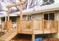 Sunburst Deck Railing Plans