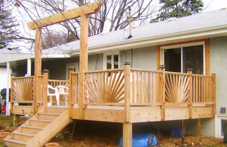 Permalink to Sunburst Deck Railing Plans