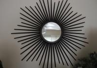 Sunburst Mirror Over Fireplace