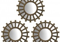 Sunburst Mirror Wall Art Set Of 3