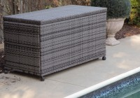 Suncast Resin Wicker Deck Box 122 Gallon