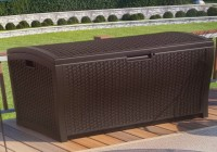 Suncast Resin Wicker Deck Box 73 Gallon