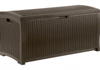 Suncast Resin Wicker Deck Box Brown (73 Gallon)