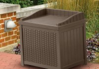 Suncast Resin Wicker Deck Box Storage Compartment