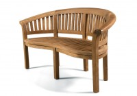 Teak Garden Bench Curved Back