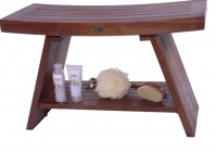 Teak Shower Bench Modern