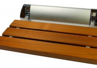 teak wood shower bench