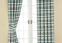 Teal Horizontal Stripe Curtains