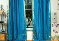 teal sheer curtain panels