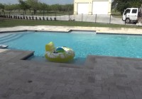 Travertine Pool Deck Ivory