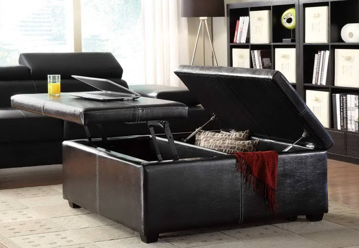 Permalink to Tufted Cocktail Ottoman With Lift Top Storage