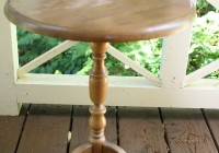 Turned Pedestal Side Table