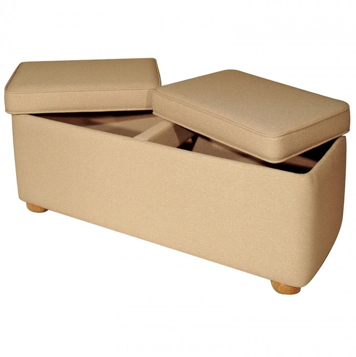 Permalink to Upholstered Storage Ottoman Bench