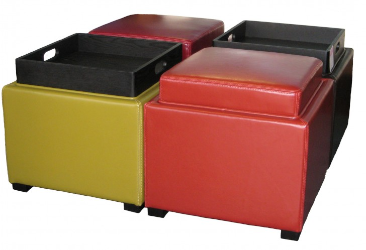 Permalink to Upholstered Storage Ottoman With Tray