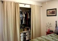 Using Curtains As Closet Doors