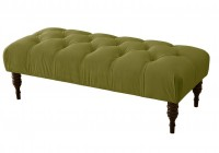 Velvet Tufted Storage Bench