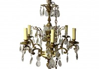 vintage brass and crystal chandelier