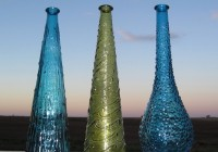 Vintage Colored Glass Vases