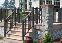vinyl deck railings home depot
