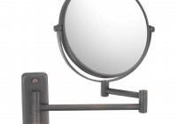 Wall Mount Magnifying Mirror Bronze 10x