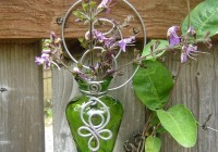Wall Mounted Glass Flower Vases