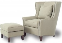 White Accent Chair With Ottoman