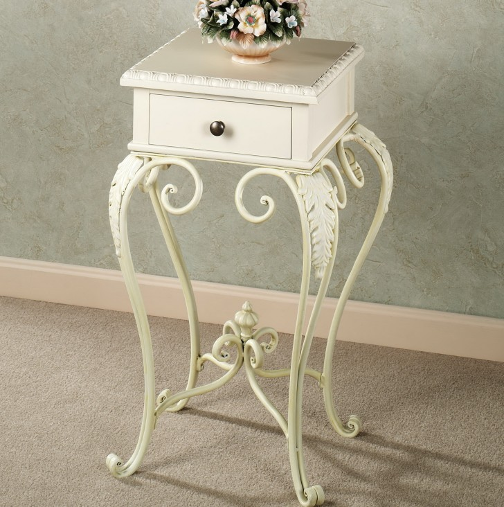 Permalink to White Accent Table With Drawers