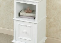 White Accent Table With Storage