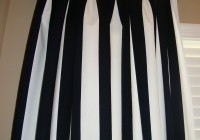 White And Black Striped Curtains