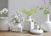 White Ceramic Vases For Wedding