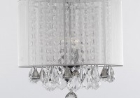 White Chandelier With Shades