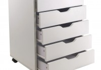 white closet organizer with drawers