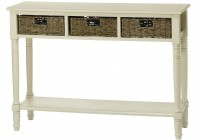 White Console Table With Baskets