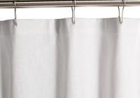 White Cotton Shower Curtain