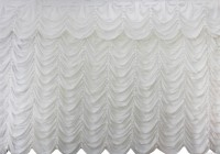 White Crushed Velvet Curtains