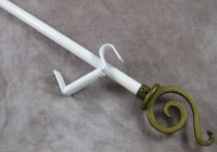 White Curtain Rods Decorative
