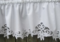 White Lace Kitchen Curtains