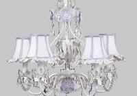 White Lamp Shade Chandelier