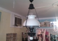 White Milk Glass Chandelier