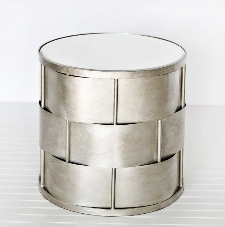 Permalink to White Mirrored Accent Table