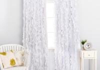 white ruffle blackout curtains