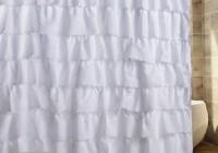 White Ruffle Curtains Amazon