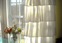 white ruffle curtains target